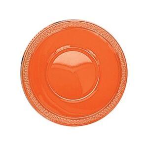 Orange-Plastic-Food-Bowls-Cake-Dessert-Party-Celebration-Wedding-355ML
