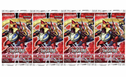 SECRETS OF ETERNITY 9 cards per pack 4 SEALED BOOSTER PACKS YU-GI-OH