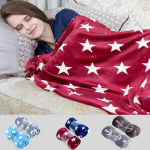 Throw-Blanket-Printed-Soft-Fleece-Lightweight-For-Sofa-Couch-Bed-50-x-60-inches