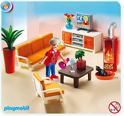 playmobil 5332 behagliches wohnzimmer neu ovp ebay. Black Bedroom Furniture Sets. Home Design Ideas