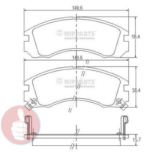 Scheibenbremse J3605031 Vorderachse Nipparts Bremsbelagsatz