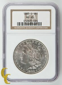 1883-O-Silver-Morgan-Dollar-Graded-by-NGC-as-MS-63-Nice-White-Color