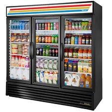 True Gdm 72 Refrigerator Triple Door Cooler Beverage Free Shipping