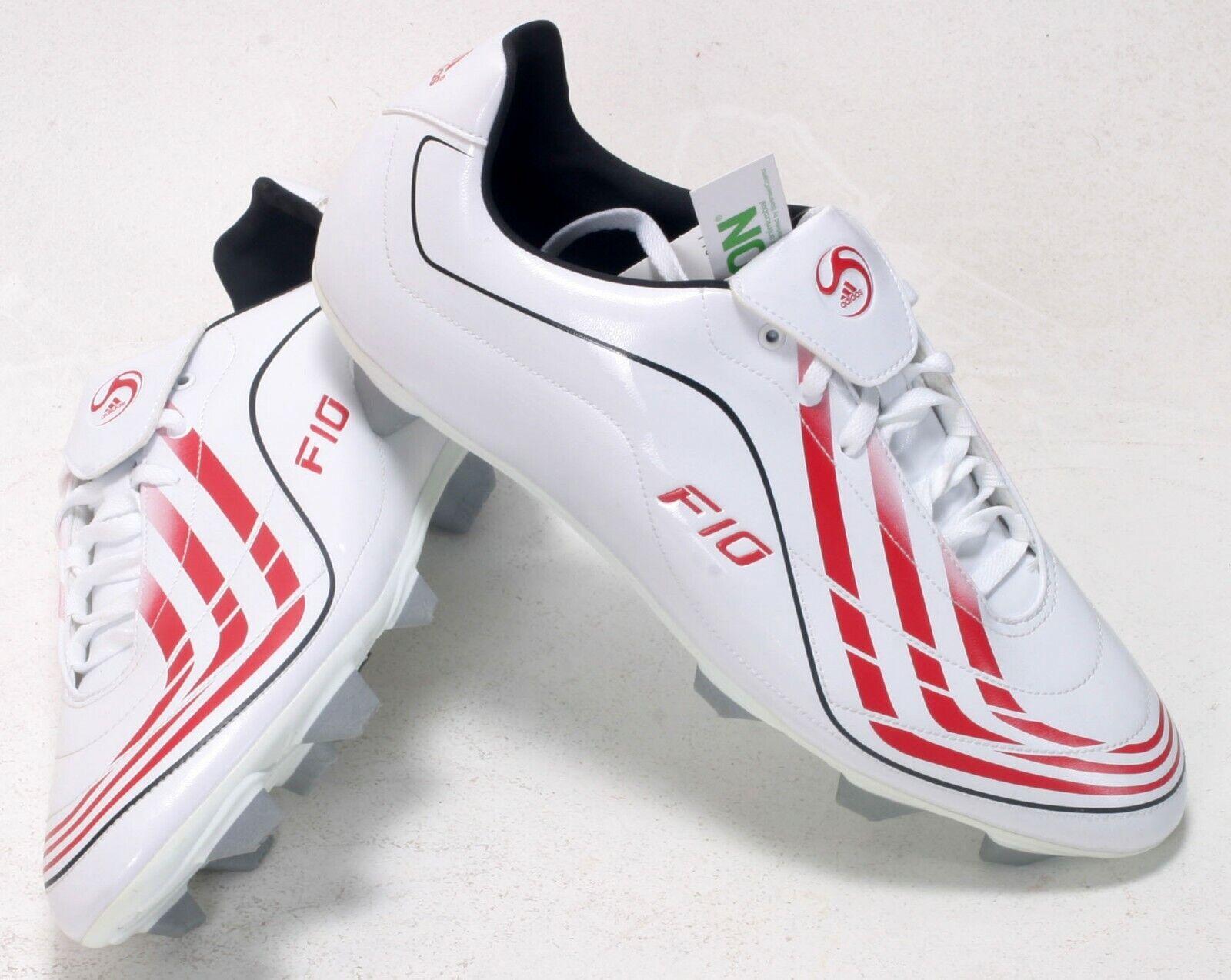 Adidas F10.9 TRX SG botas Moldeado Tachuelas blancoo Rojo12 EU471 3 G04426 Nuevo Y En Caja