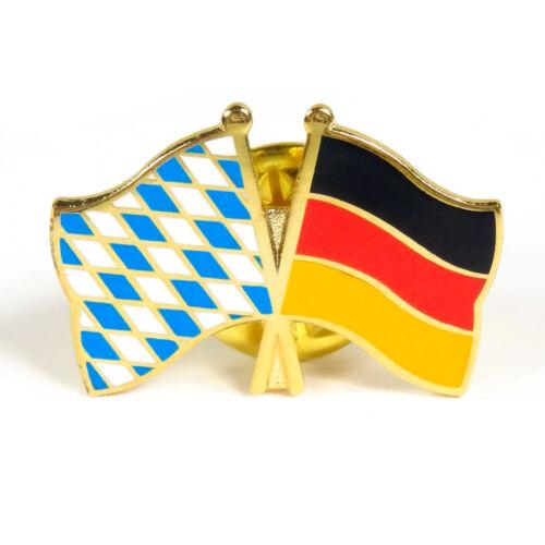Deutschland Anstecker Anstecknadel Fahnen Flaggen Pin Freundschaftspin Bayern