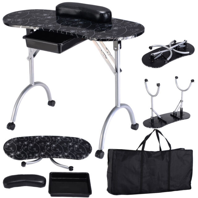 Portable Manicure Table Station Nail Desk Spa Salon Beauty Shop ...