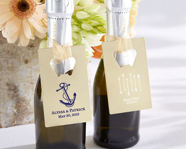 Personalized Assorted Theme or Crougeit Card Style Bottle Opener Wedding Favor
