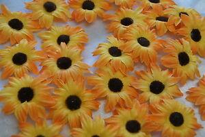 Sonnenblumen Bluten Tischdeko Streublumen Tischdeko Orange Braun Ebay