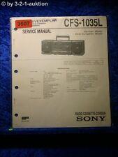 Sony Service Manual CFS 1035L Cassette Corder (#3507)