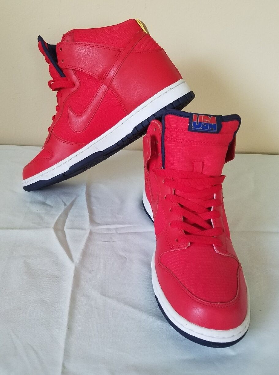 NIKE SB Dunk (High) Team USA Size 10.5 RED