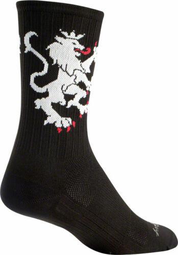SockGuy SGX Lion of Flanders Sock Black SM//MD