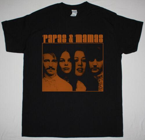 THE MAMAS AND THE PAPAS THE PAPAS /& THE MAMAS BLACK T SHIRT 1968 FOLK ROCK