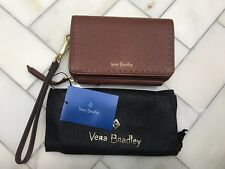 Vera Bradley Brown Mallory RFID Leather Smartphone Wristlet iPhone 8