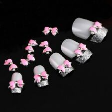 10pcs 3D Alloy Nail Art Decoration Bow Knot Glitter Rhinestones Manicure Jewelry
