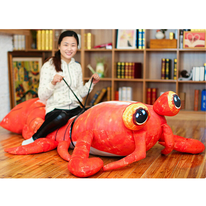 78'' Giant Simulatio Lobster Plush Toy Anime Lifelike Shrimp Soft Halloween Gift