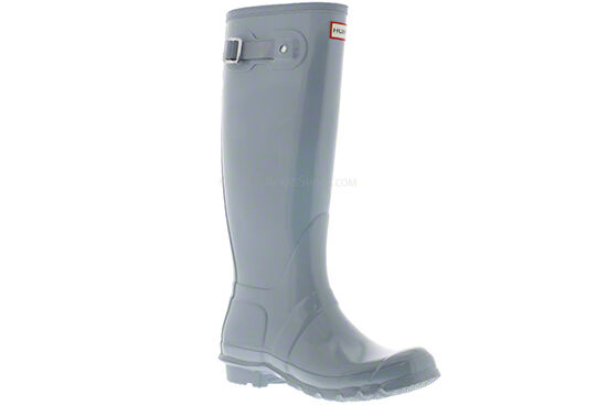 Hunter Original Brillo Para Mujer Azul Porcelana Wellies Reino Unido 3-9