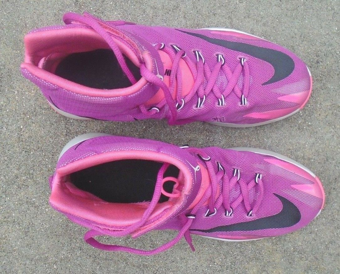 men's NIKE neon pink hightop breast shoes cancer sneakers shoes breast size 8 1/2 454fe2