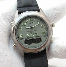ASPEN, PC21, Analog/Digital, 3ATM, Leather Band, Cool Looking, MEN'S WATCH, 2013