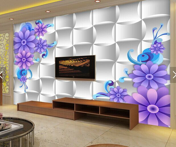 3D Flower Lattice 722 Wallpaper Mural Paper Wall Print Wallpaper Murals UK Carly