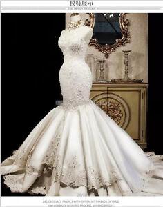 Luxury-Beaded-Appliques-White-Ivory-Wedding-Dress-Mermaid-Sweetheart-Bridal-Gown