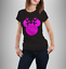 Ladies-t-shirt-disney-inspired-Minnie-mouse-T-shirt-various-GLITTER-colours thumbnail 1