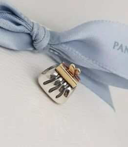 f145a2a88 Authentic Pandora Two Tone Silver 14k Gold Clutch Purse Charm 790475 ...