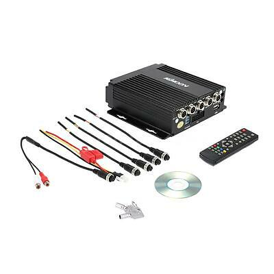 Realtime SD Auto Car Mobile DVR 4CH Video Input with Remote Controller Encrption