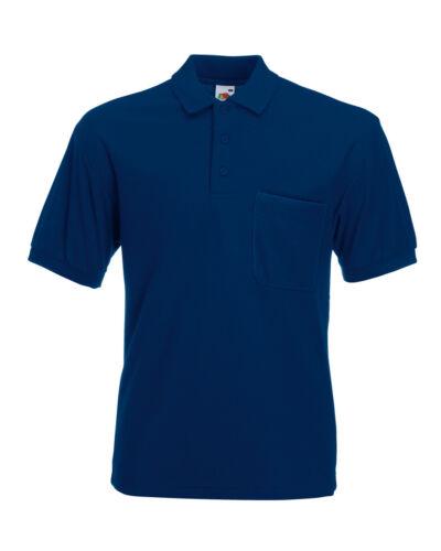 Polo shirt Adult Fruit Of The Loom 65//35 Pocket Piqué Polo Men/'s Polo top