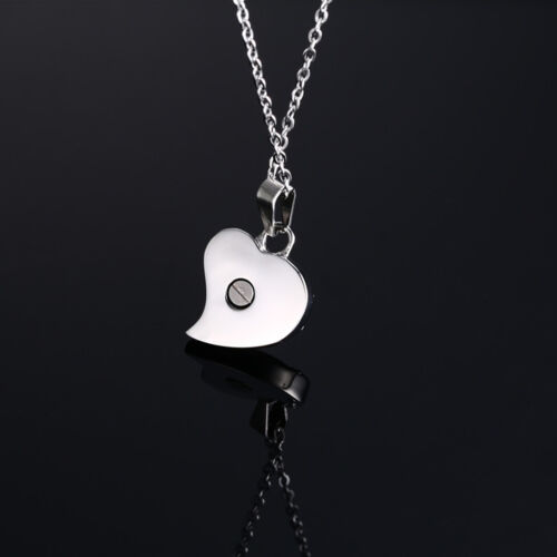 Cremation Jewelry Pendant Urn Only Love Heart Shape Memorial Keepsake Necklace