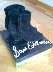 SAM-EDELMAN-Loui-Boots-black-botas-Size-8-39