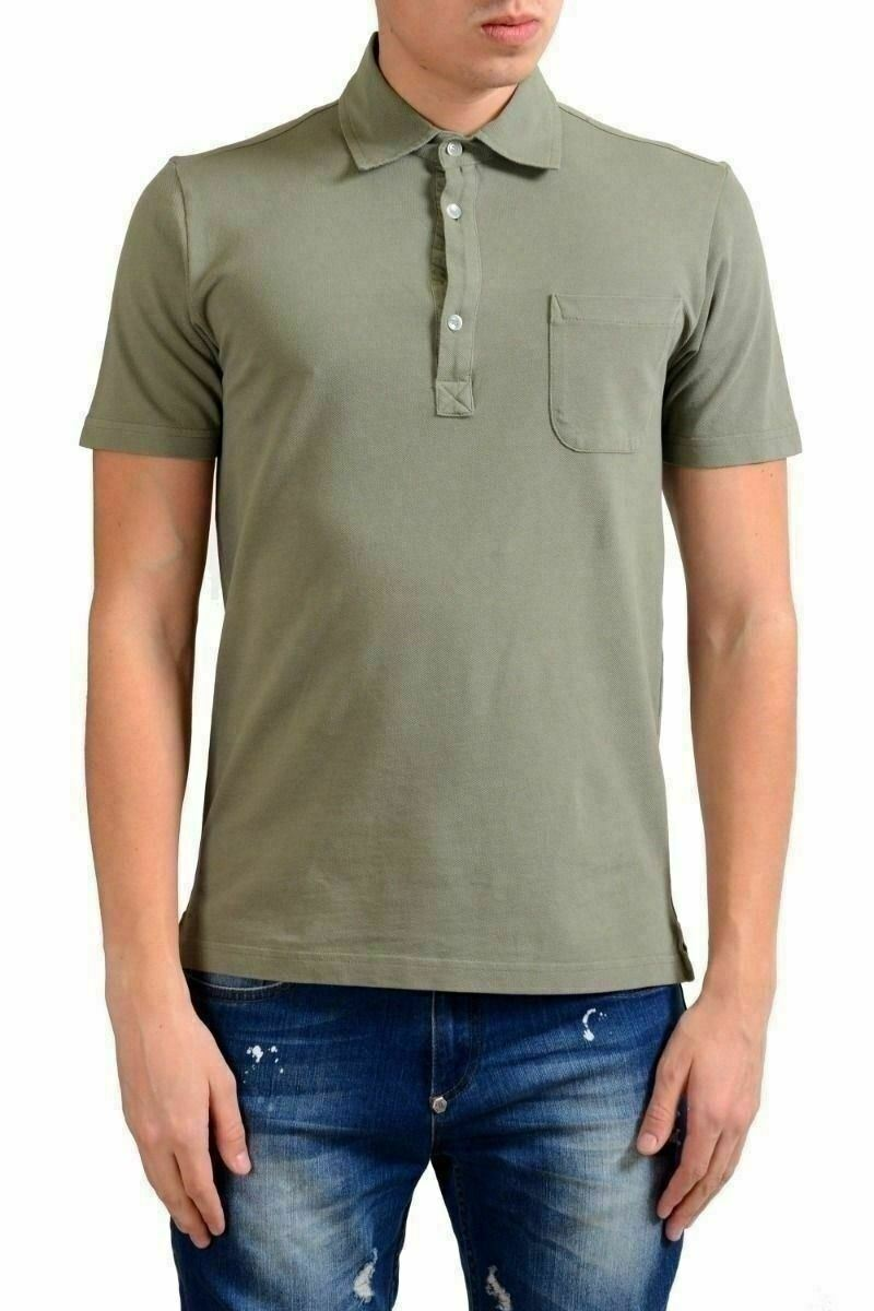 Malo Men's Olive Green Short Sleeve Polo Shirt US XS IT 46