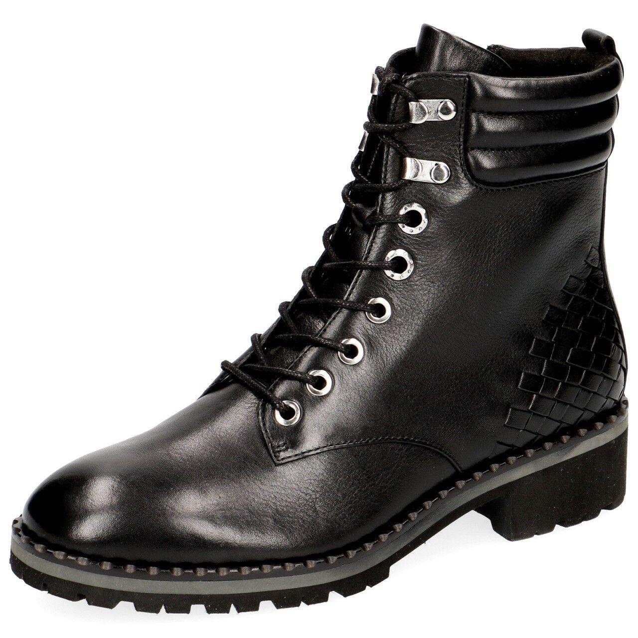 Caprice clásico señora botín 25208 Combat botas conformando cremallera