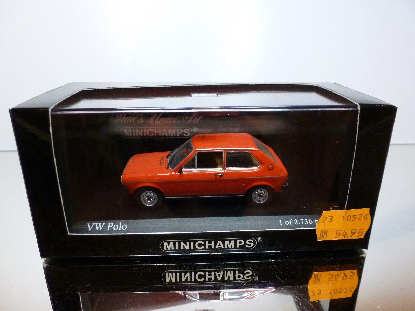 MINICHAMPS 50500 VW VOLKSWAGEN POLO 1975 - rosso 1:43 RARE - EXCELLENT IN BOX