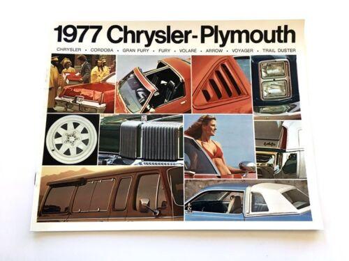 Cordoba Fury Arrow Newport 1977 Chrysler Plymouth 20-page Car Sales Brochure