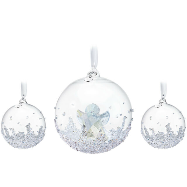 Swarovski Crystal Christmas Ornaments Set of 3 CHRISTMAS BALLS 2015  #5136414 New - Swarovski Annual Edition 2015 Christmas Ball Ornament Set EBay