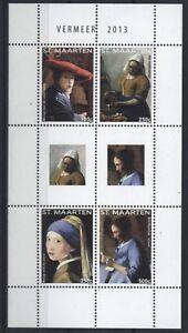 St. Maarten 2013-tableau De Jan Vermeer-paintings Peintures-mi. 230-33 **-afficher Le Titre D'origine 100% D'Origine