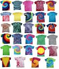 Multi-Color Tie Dye T-Shirts  S M L XL 2XL 3XL 4XL 5XL Cotton Colortone-Gildan