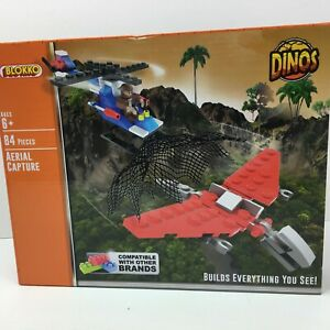 Blokko-DINOS-Aerial-Capture-84-Pieces-Compatible-With-Other-Brick-Sets