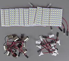 10x Super Bright 11w White LED Panel Interior Dome Map Light +BA15S+921 Adapters