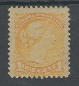 CANADA SG73 THE 1876-9 QV 1c ORANGE-YELLOW MOUNTED MINT CAT £90