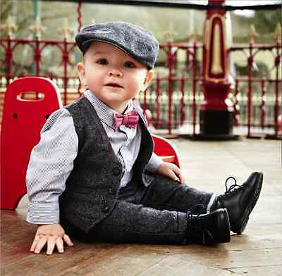 Constructive New Mamas & Papas Boys Limited Edition 4 Piece Waistcoat Set With Trouser To Make One Feel At Ease And Energetic