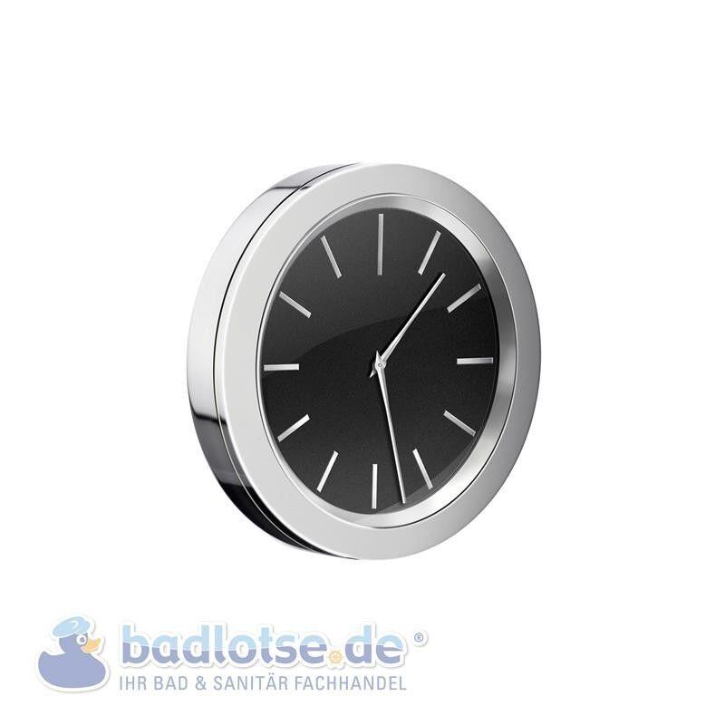SMEDBO TIME glänzend Badezimmer-Uhr selbstklebend Bad-Wanduhr schwarz YK380   Kunde zuerst