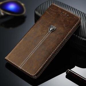 Magnetique-Flip-Carte-Housse-Cover-Portefeuille-Etui-en-cuir-pour-iPhone-Samsung