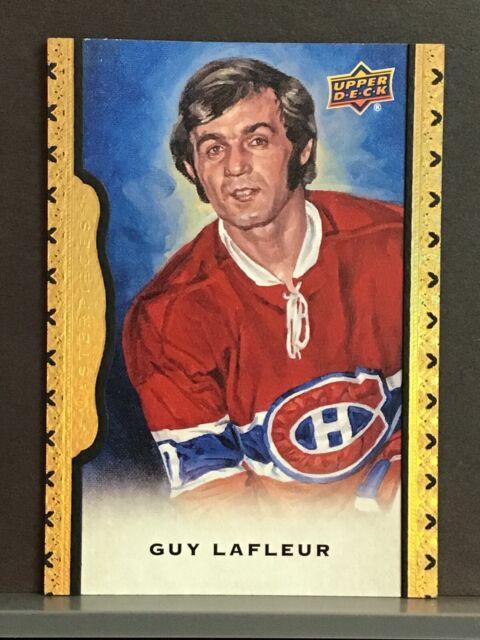 2014-15 Guy Lafleur /50 Upper Deck Black Framed Leather Rare Montreal Canadiens