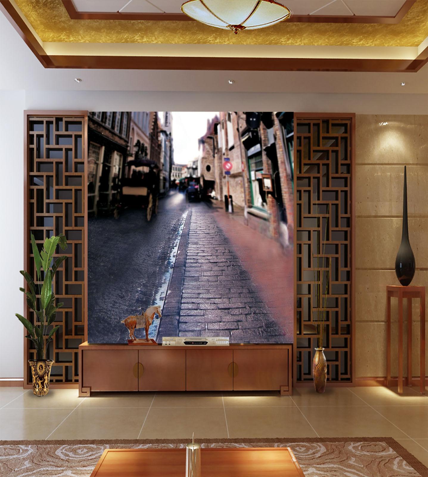 3D House Path 925 Wallpaper Mural Paper Wall Print Wallpaper Murals UK Lemon