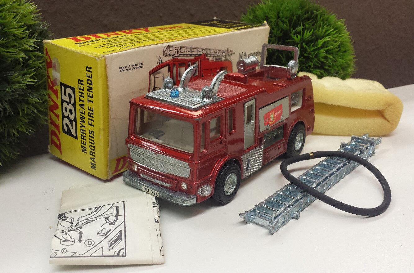 DINKY TOYS 285 Merryweather Marquis Fire Tender 285 pompiers neuf dans sa boîte