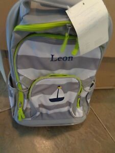 Pottery Barn Kids Fairfax Gray Rugby Stripe Rolling