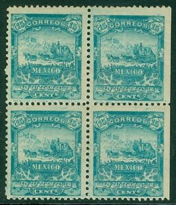 MEXICO-1898-Scott-286-Block-of-4-Fresh-VF-Mint-Original-Gum-Cat-700