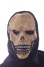 Skeleton Skull Zombie Mask Black Hood Mens Halloween Costume Accessory Scary NEW
