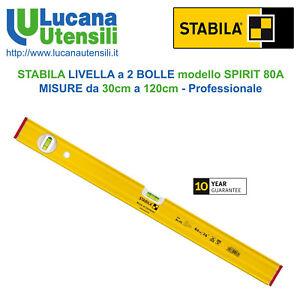 Efficace Stabila Niveau 2 Bulles Modèle Spirit 80a Mesures Da 30cm A 120cm Professionnel Haute Qualité Et Bas Frais GéNéRaux